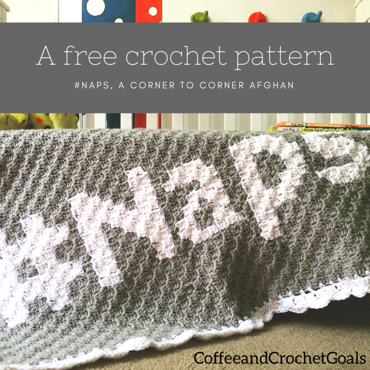 A free crochet pattern perfect to cuddle under for all those #naps