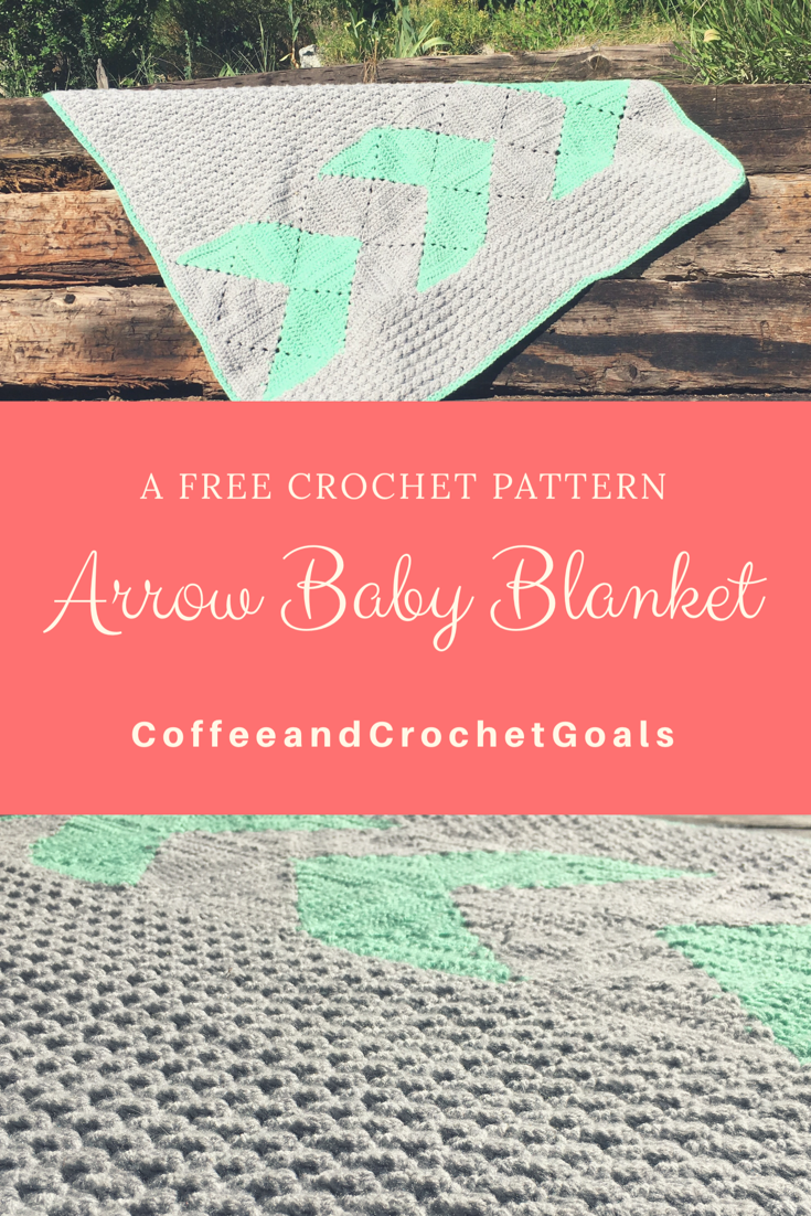 This free crochet pattern features a half square triangle granny square in neutral colors, perfect for any baby on the block.