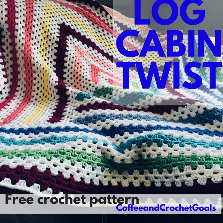 A free crochet pattern feauting a twist to the traditional log cabin pattern.