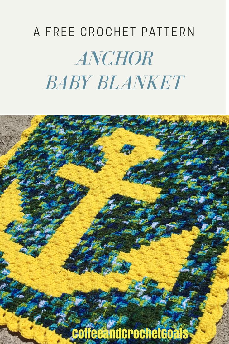 Anchor Baby Blanket Coffee Crochet Goals