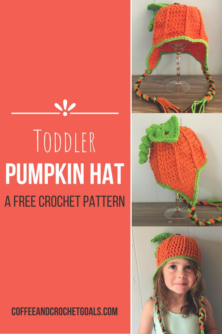 Toddler Pumpkin Hat Coffee Crochet Goals