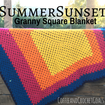I love the fun and bold take on the simple Granny Square Blanket, this Summer Sunset blanket has.