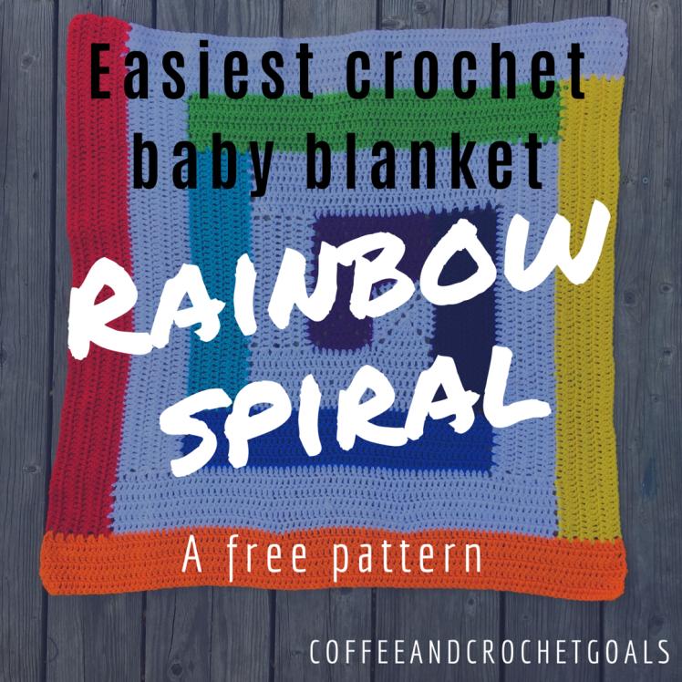 Easiest Baby Blanket, the Rainbow Spiral