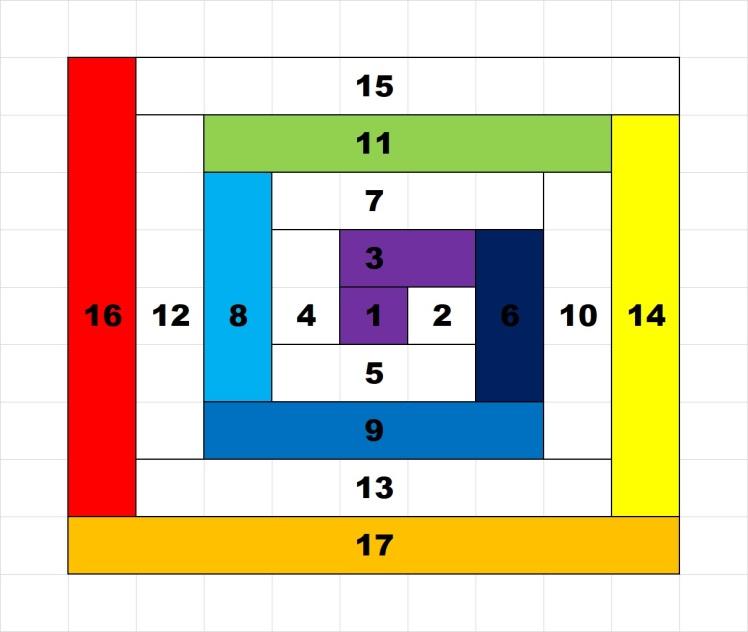 Rainbow Spiral Block