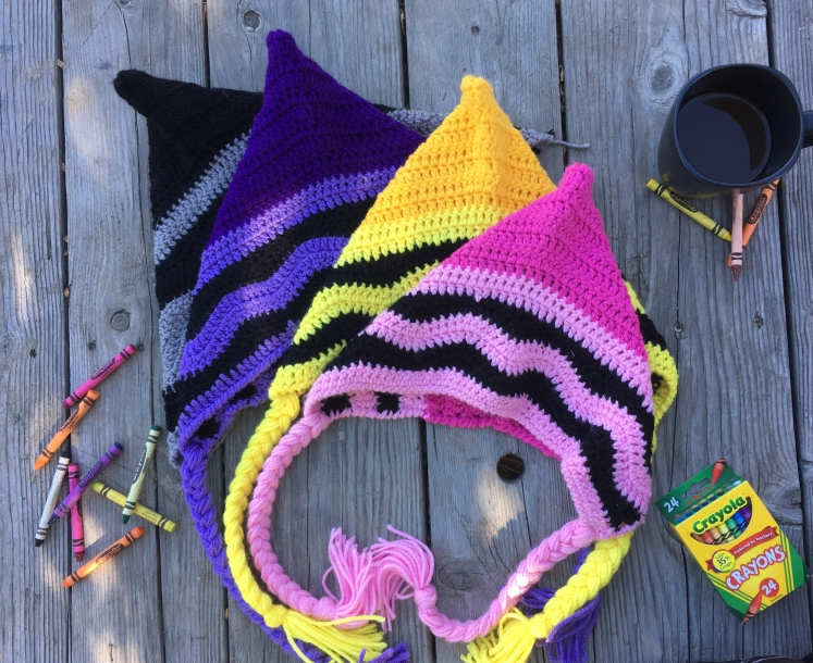 The Crayon Pixie Hat is the perfect topper to the adorable crayon costume or maybe a hat for back to school