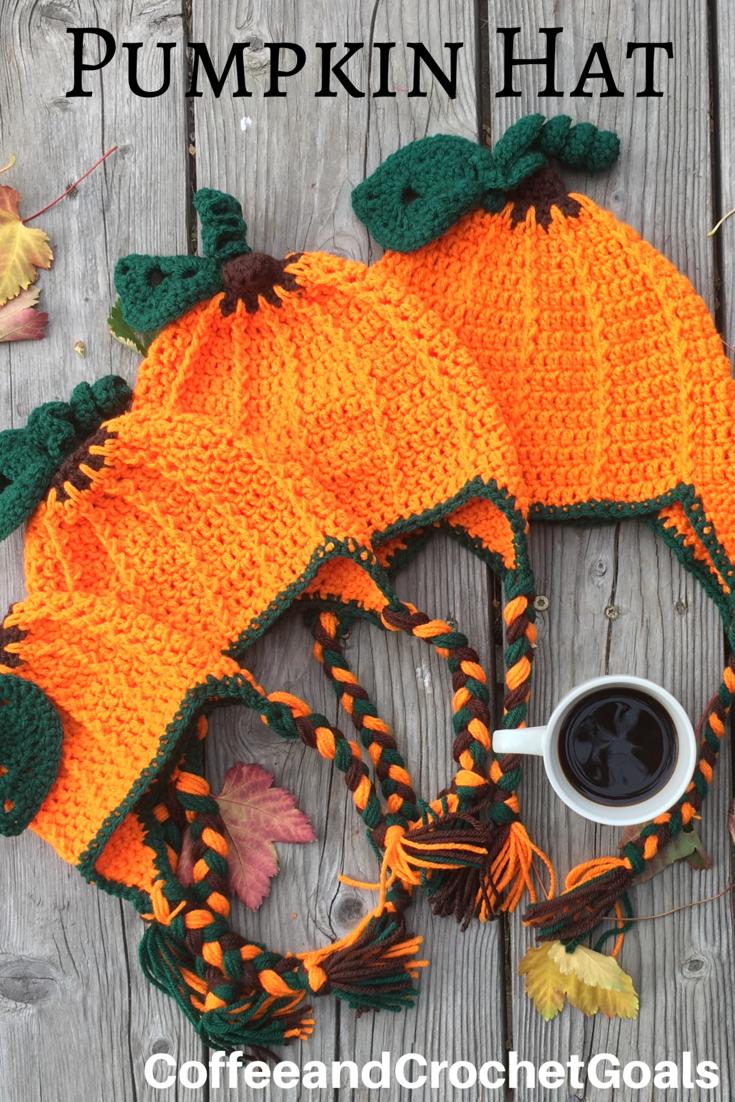 Child Pumpkin Hat Coffee Crochet Goals