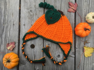 The free pumpkin hat is now available in child size!