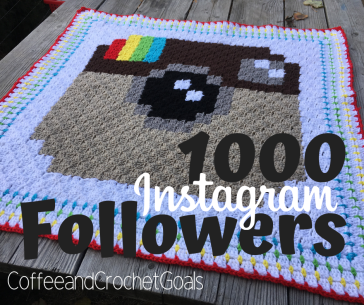 Celebrating 1000 Instagram followers with this free corner to corner crochet blanket
