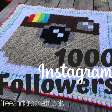Celebrating 1000 Instagram followers with this free corner to corner crochet blanket