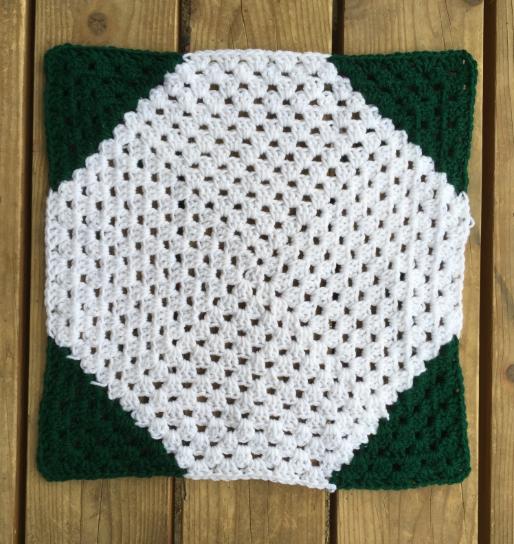 This octagon granny square is a new twist to the simple design