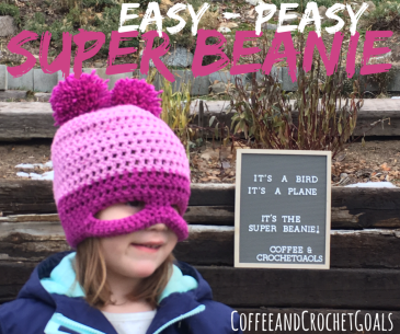 What a fun project these easy-peasy super beanies were to complete.