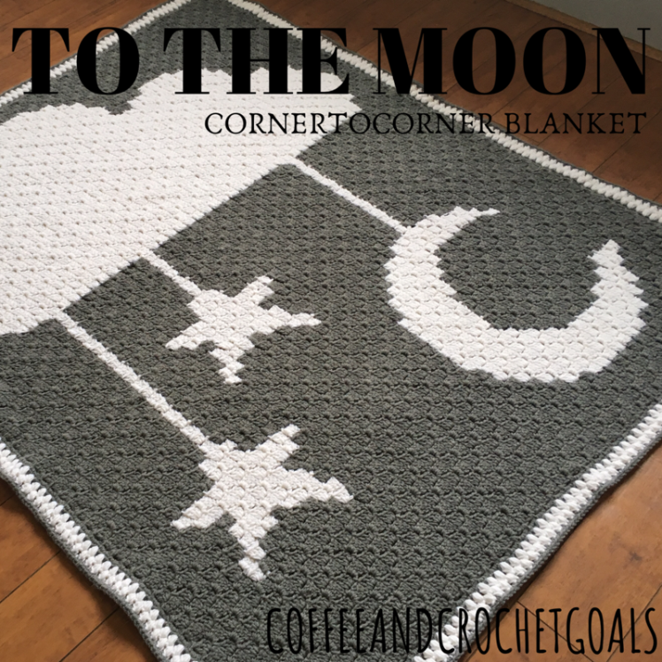 Looking for a gender neutral blanket, this TO THE MOON corner to corner blanket will make your heart full!