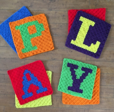 A picture of all four PLAY pillow set before sewn together.