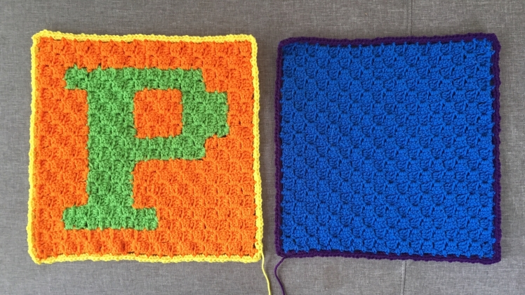 The two panels for the P pillow