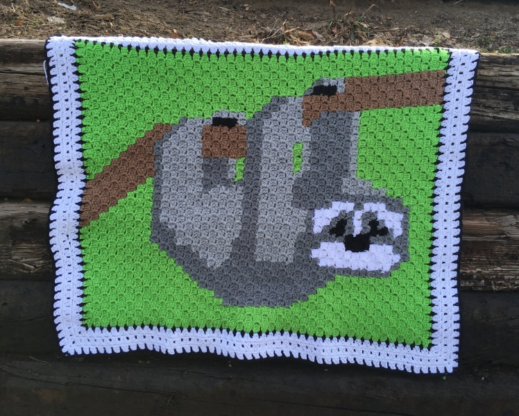 This fun C2C Three toed sloth by CoffeeandCrochetGoals is perfect for any baby boy or girl you know.