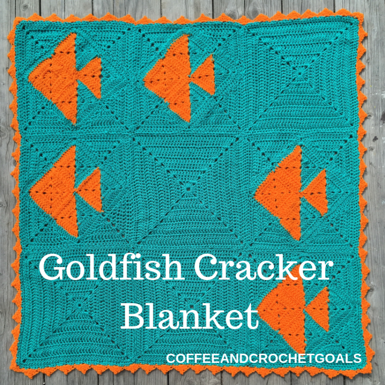 How delicious is this Goldfish Cracker blanket