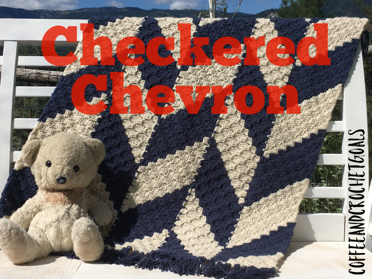 This classic and bold Checkered Chevron is made is the C2C as you go method and is perfect for any color combo!
