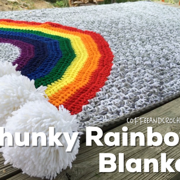 This Chunky Rainbow Blanket is so quick to make, but it is full of whimsy amazingness!